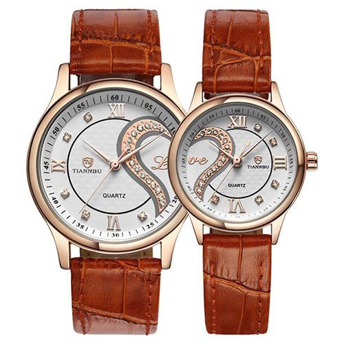 Conjunto de relojes de pulsera románticos para parejas