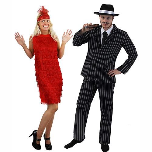 Disfraces carnaval para parejas gánster