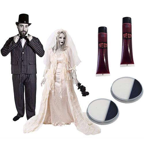 Disfraces Zombie y novia Zombie para parejas