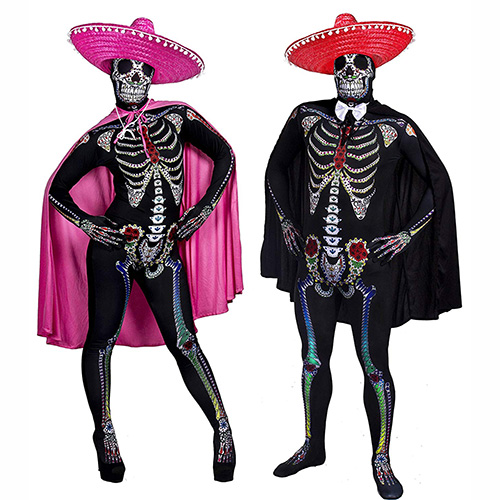 Disfraces para Halloween esqueletos mexicanos de Halloween
