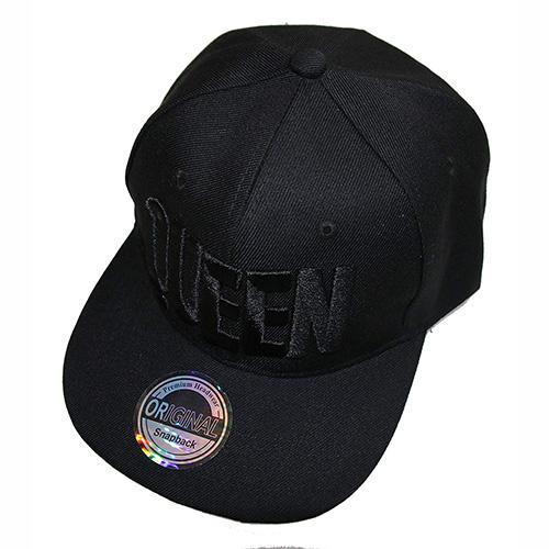 Gorra de béisbol Queen negra