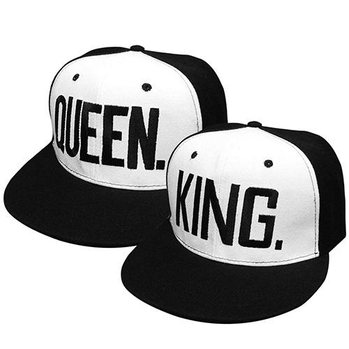 Gorras de Béisbol King y Queen para parejas