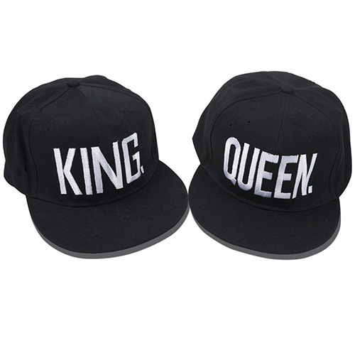 Gorras Queen King Estilo hip-hop