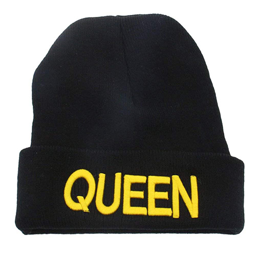Gorro de lana Queen King negro
