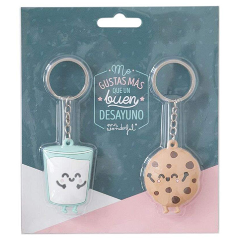 Llaveros Mr.Wonderful cookie y Vaso