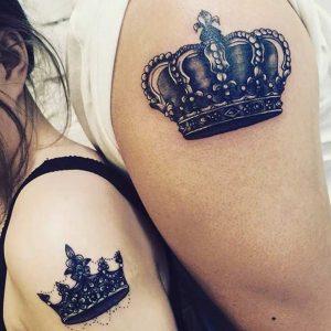 tatuajes para parejas sombreado tinta negra