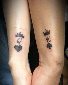 tatuajes para novios King Queen Poker