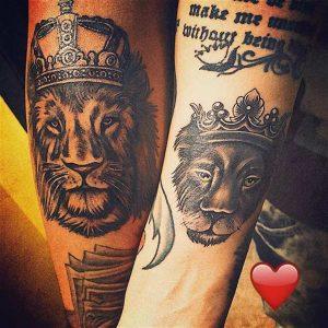 tatuajes para novios León Leona