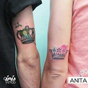 tatuajes para novios efecto acuarela