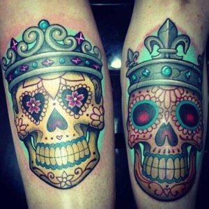 tatuajes para parejas calaveras mexicanas