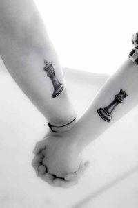 tatuajes para parejas Fichas de ajedrez