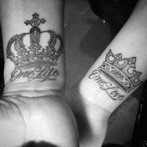 tatuajes para novios una vida un amor